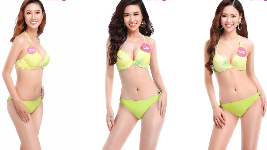 Thí sinh Hoa hậu Việt Nam 2018 nóng bỏng bikini ngay trước đêm thi chung khảo phía Nam