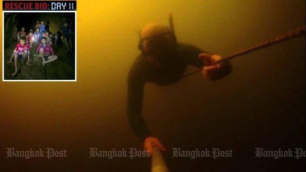 Lặn ra ngoài là đường thoát duy nhất cho các cậu bé đội bóng nhí Thái Lan