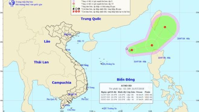 Áp thấp nhiệt đới giật cấp 8 trên Biển Đông, thủy điện mở thêm cửa xả, Hà Nội nhiều điểm ngập