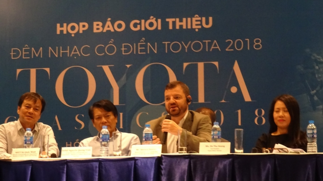 Đêm nhạc cổ điển Toyota 2018 diễn ra vào tối 17/11, tại Nhà hát Thành phố Hồ Chí Minh