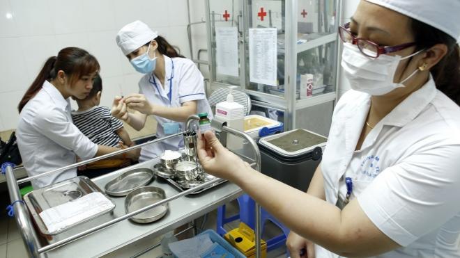 Hà Nội tiêm bổ sung vắc xin sởi rubella cho trẻ dưới 5 tuổi