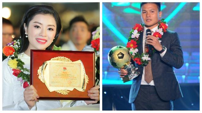 'Sao Mai' Thu Hằng và tiền vệ Quang Hải nhận danh hiệu Gương mặt trẻ Thủ đô tiêu biểu 2018