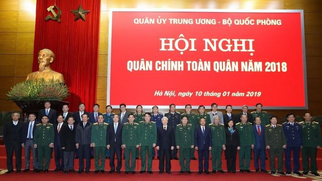 Tổng Bí thư, Chủ tịch nước Nguyễn Phú Trọng dự và phát biểu chỉ đạo tại Hội nghị quân chính toàn quân năm 2018