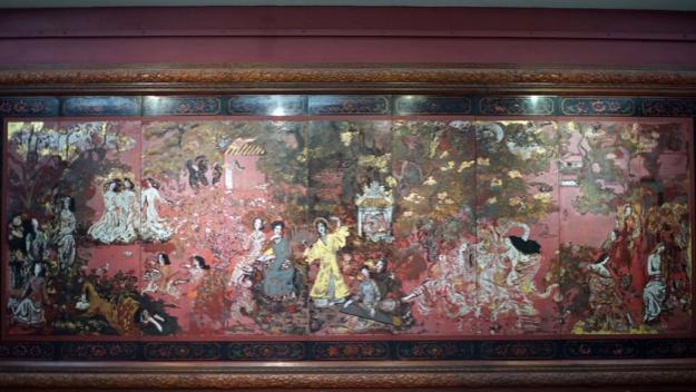 Kỳ công của bảo vật sơn mài 'Vườn Xuân Trung Nam Bắc'