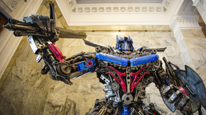 Chiêm ngưỡng BST điêu khắc có một không hai được chế tác từ phế thải kim loại