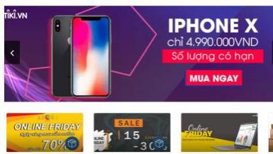 Online Friday 2019 sẽ giảm giá tới 70% các mặt hàng