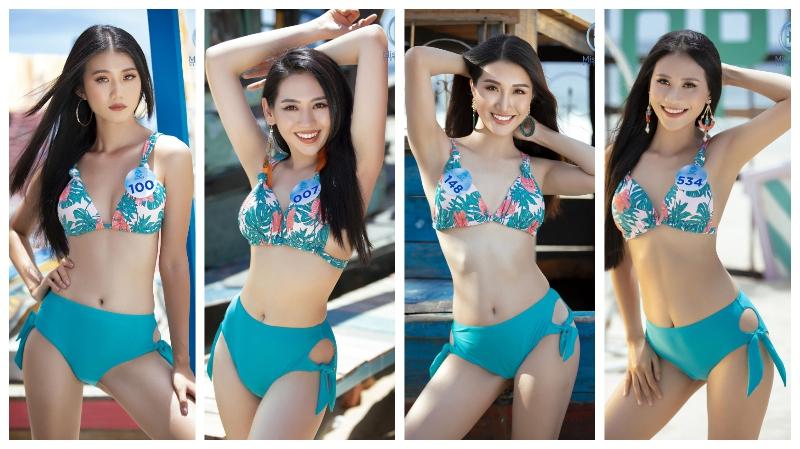 Dàn người đẹp Miss World Việt Nam khoe dáng với bikini giữa biển trời Đà Nẵng