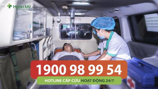 Miễn phí vận chuyển bệnh nhân cấp cứu đến bệnh viện Hoàn Mỹ ITO Đồng Nai