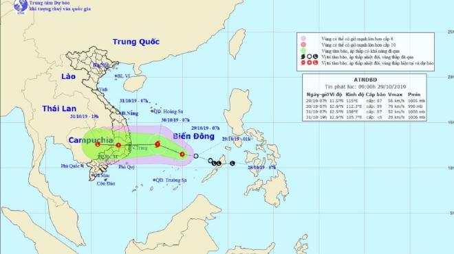 Dự báo thời tiết: Áp thấp nhiệt đới sau bão số 5
