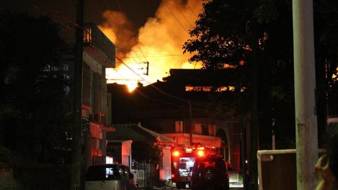 Nhật Bản: Cháy lớn tại Lâu đài Shuri trên đảo Okinawa