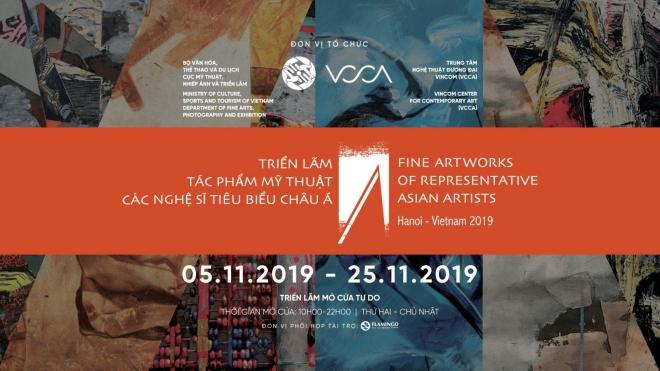 Triển lãm tác phẩm mỹ thuật của các nghệ sỹ tiêu biểu châu Á tại Hà Nội