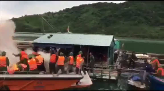 Quảng Ninh: Tạm giữ hình sự các đối tượng chống đối việc cưỡng chế di dời nuôi trồng thủy sản trái phép