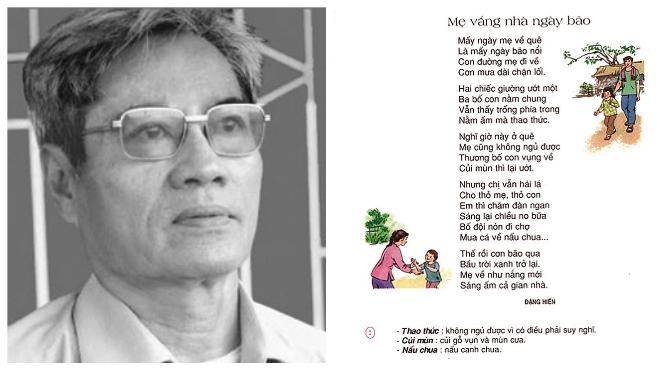 Nhà thơ - NGƯT Đặng Hiển: 'Mẹ vắng nhà ngày bão' - 38 năm và mãi mãi
