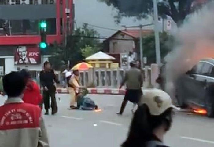 Tai nạn lê văn lương, Tai nạn giao thông, Tai nạn hà nội, tai nạn Hà Nội, tngt, Mercedes GLC200, tai nạn Hà Nội, Tai nạn giao thông Lê Văn Lương, tai nạn cháy ô tô