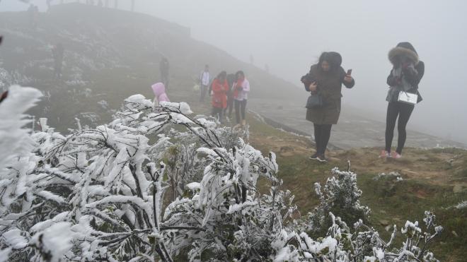 Nhiều vùng biển có gió mạnh, băng giá và sương muối bao phủ vùng núi cao phía Bắc