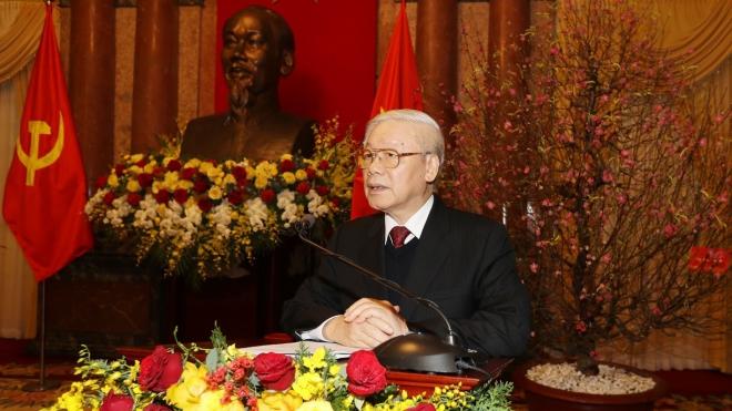 Tổng Bí thư, Chủ tịch nước Nguyễn Phú Trọng chúc Tết lãnh đạo, nguyên lãnh đạo Đảng và Nhà nước