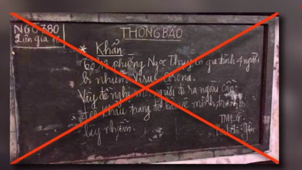 Thông tin 4 người nhiễm virus corona tại Long Biên (Hà Nội) là sai sự thật