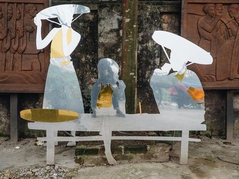 Con đường nghệ thuật ở 'bãi rác' Phúc Tân: Kể chuyện về sông Hồng