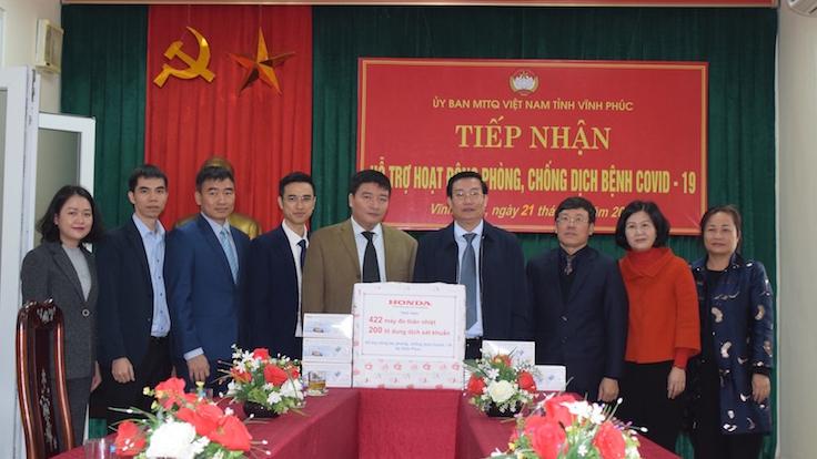 Honda Việt Nam ủng hộ thiết bị y tế phòng chống corona