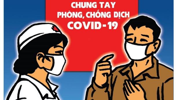 Tranh cổ động phòng chống dịch bệnh Covid-19