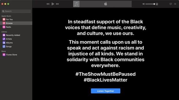 Ngành công nghiệp âm nhạc 'đình công' để phản đối phân biệt chủng tộc