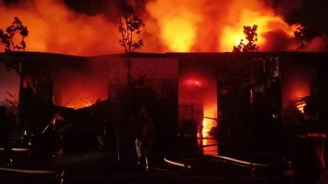 Cháy lớn tại Viện điều tra Quy hoạch rừng tại huyện Thanh Trì, Hà Nội