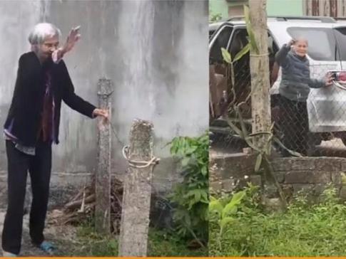 Chảy nước mắt hình ảnh mẹ già 103 tuổi tiễn con gái 80 tuổi