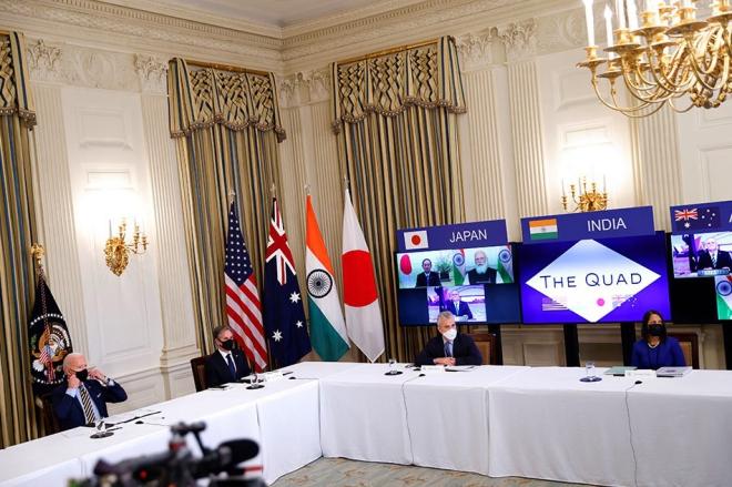 Hội nghị thượng đỉnh Nhóm Bộ Tứ. Nhóm Bộ Tứ gồm những nước nào. Nhóm Bộ Tứ Australia Ấn Độ Nhật Bản Mỹ