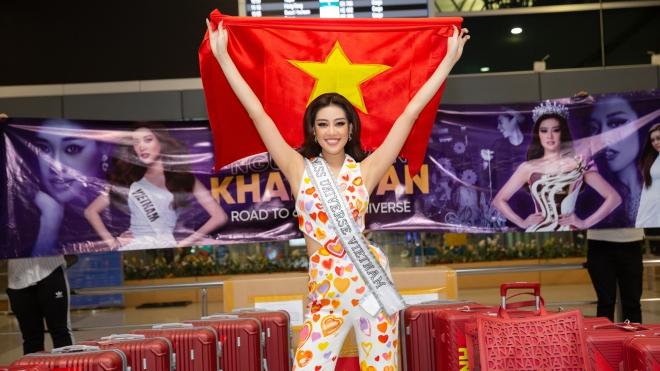 Hoa hậu Khánh Vân đã đến Mỹ tham gia Miss Universe