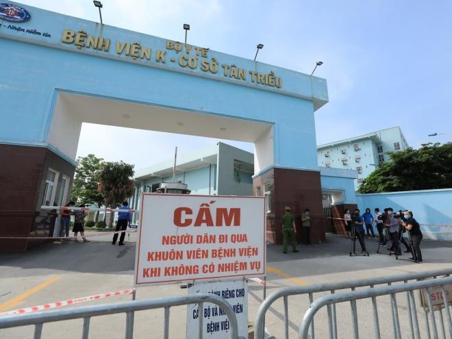 Tình hình dịch Covid-19, Phong tỏa bệnh viện K Tân Triều, Ca nhiễm ở viện K, số ca nhiễm ở viện K, viện K phong tỏa từ ngày 7/5