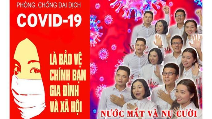 Nghệ sĩ Việt cổ vũ tuyến đầu chống dịch Covid-19