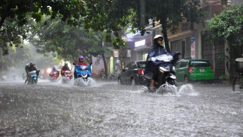 Ảnh hưởng của áp thấp nhiệt đới, cả nước mưa dông