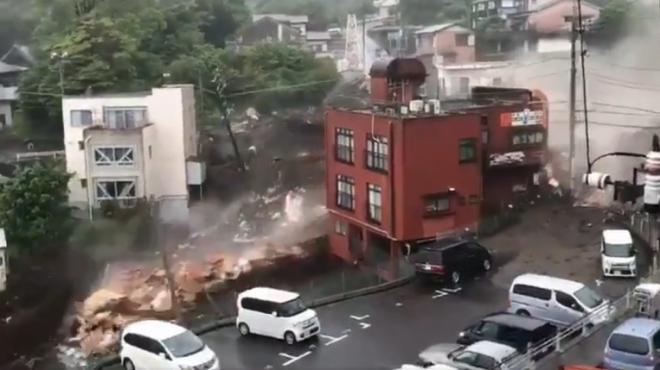 VIDEO Khoảnh khắc lở đất kinh hoàng ở Nhật Bản khiến 20 người mất tích