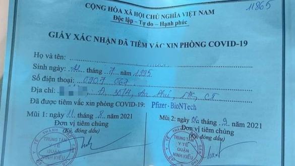Xác minh nhân thân cô gái khoe được tiêm hai mũi vaccine nhờ 'xin ông anh'