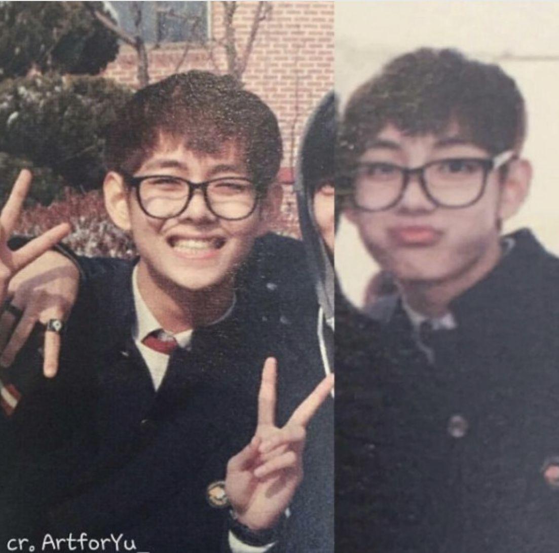 V BTS, v bts, Ảnh thời trung học của V, V thời dậy thì, V thời là học sinh cấp 3, ảnh thời học sinh của v, ảnh cũ của V