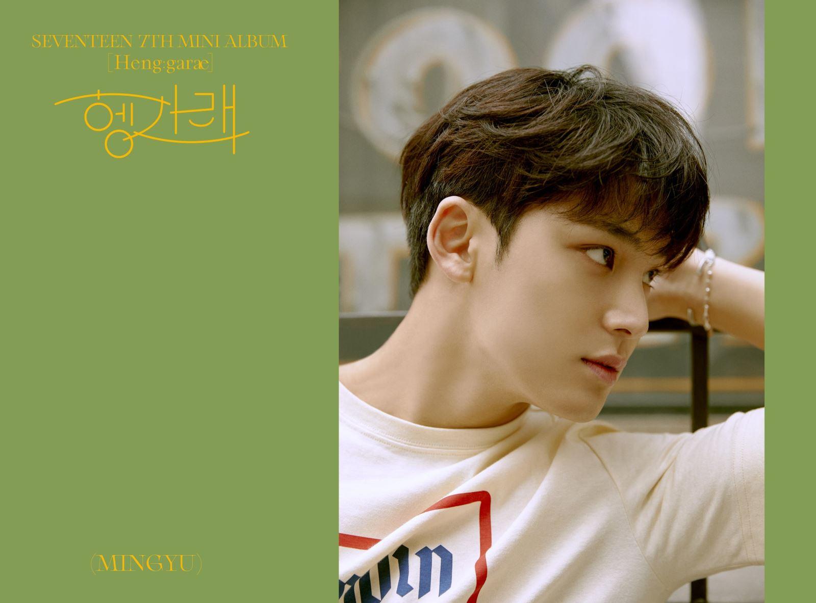 SEVENTEEN comeback, Mingyu Jungkook BTS, Mingyu dũng cảm nhận lỗi vụ Itaewon, mini album 7 Henggarae, ca khúc chủ đề Left & Right, Woozi, Vernon, album Henggaræ