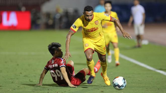 VIDEO bóng đá Nam Định 1-1 TPHCM: Nỗ lực bất thành của thầy trò HLV Chung Hae Seong