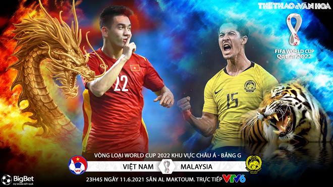 VIDEO soi kèo nhà cái Việt Nam vs Malaysia. VTV6 trực tiếp bóng đá vòng loại World Cup 2022