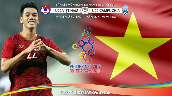 Lịch phát sóng bóng đá hôm nay 7/12: U22 Việt Nam vs U22 Campuchia