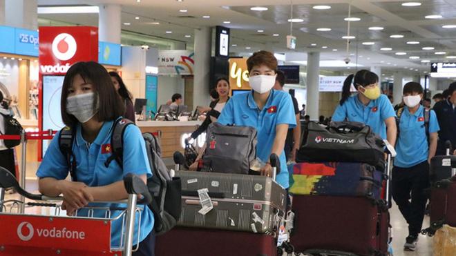 Những hình ảnh đầu tiên của đội tuyển nữ Việt Nam khi đặt chân tới Australia