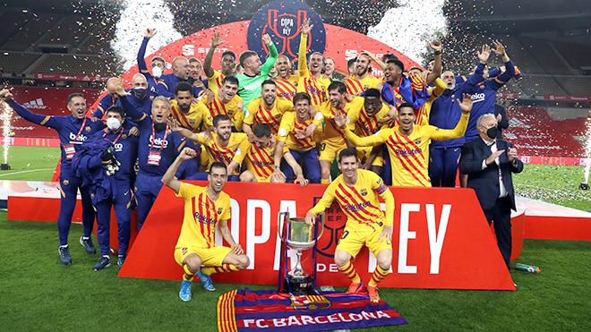 Barcelona giành Cúp nhà Vua: Chiếc Cúp của Leo Messi