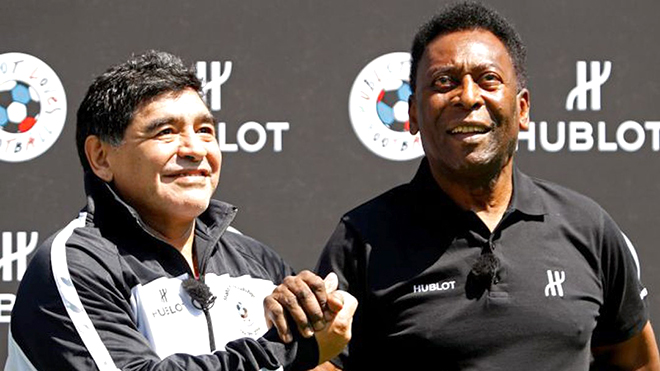 Pele hẹn chơi bóng với Maradona trên thiên đường
