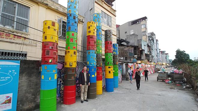 Dự án nghệ thuật công cộng Phúc Tân: Lưu giữ ký ức của Hà Nội và sông Hồng