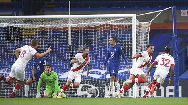 Bảng xếp hạng Ngoại hạng Anh, Chelsea, tin bóng đá Chelsea, Chelsea 3-3 Southampton, kết quả bóng đá Anh, bxh Premier League, kết quả bóng đá Ngoại hạng Anh