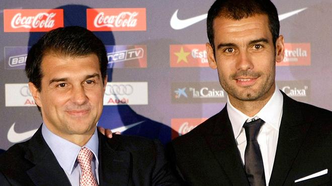 bóng đá, tin bóng đá, bong da hom nay, tin tuc bong da, tin tuc bong da hom nay, Barcelona, Barca, Guardiola, Pep, Laporta, Pep trở lại Camp Nou, Liga