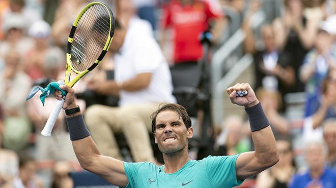 Tennis: Nadal chạm một tay vào Cúp Montreal Masters