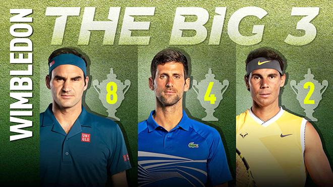 Wimbledon 2019:  Đẳng cấp Djokovic, Federer và Nadal ở tứ kết đơn nam