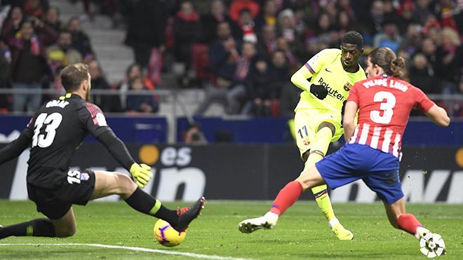 Barcelona hòa Atletico 1-1: Đã đến lúc mở khóa tài năng của Dembele
