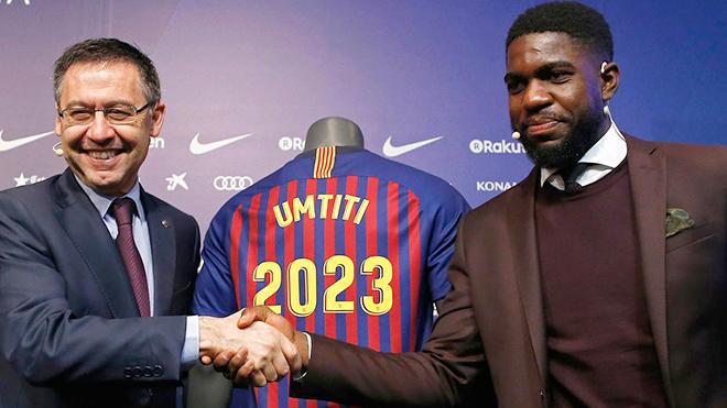 Giữ được Samuel Umtiti lâu dài là chân đế cho thành công của Barca