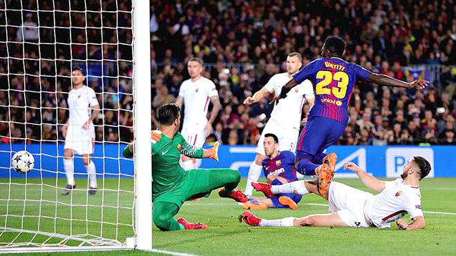 Barcelona hạ Roma 4-1: Khi vận may chắp cánh cho Barca